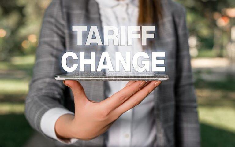 Secondary Legislation – Tariff Amendments 2021